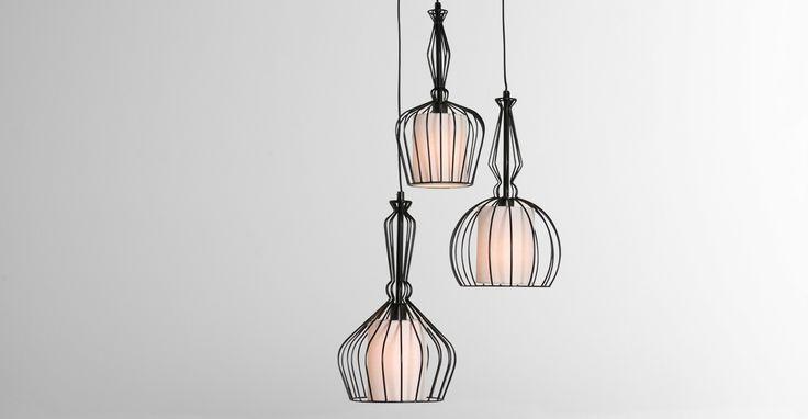 Emeline Cluster Light, Matt Black