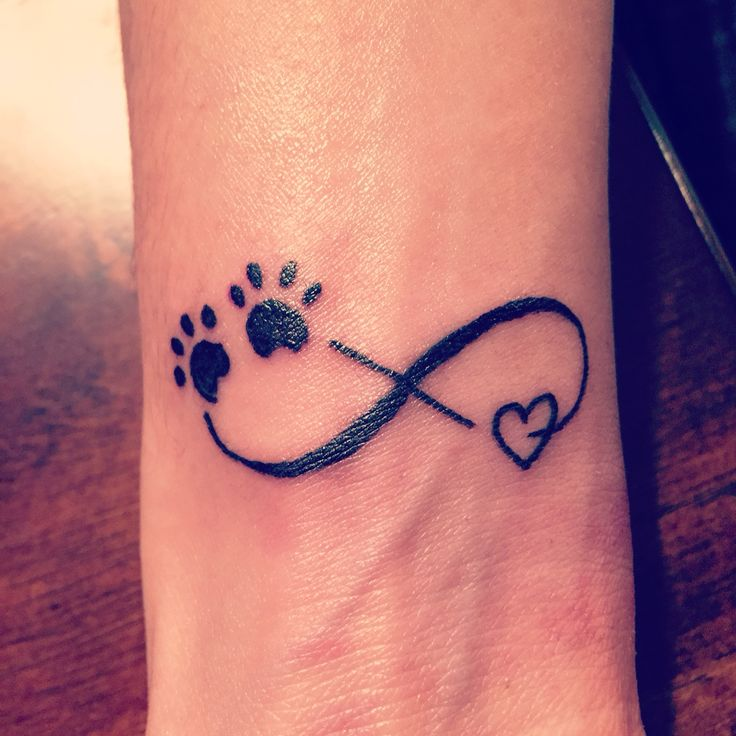 Heart Shaped Paw Prints Tattoos: Tattoo For My Furry Babies!! Infinity Symbol With Paw
