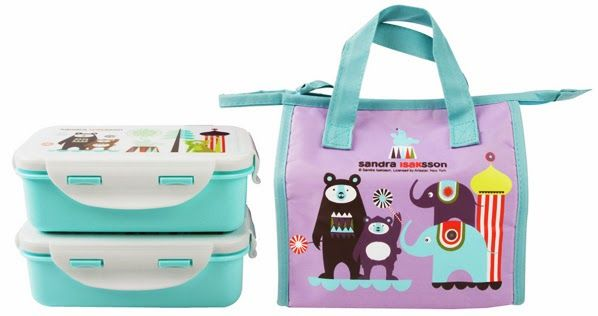 Modern circus themed lunch bags and boxes for kids from ISAk. Love the Scandinavian illustrations!