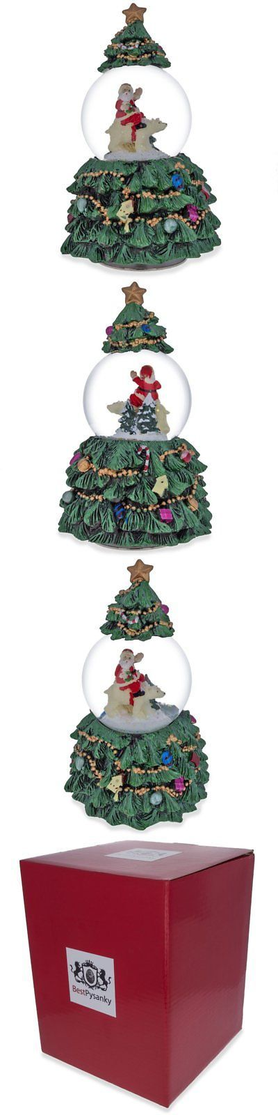 Snow Globes 156890: 6 Santa And Polar Bear In Rotating Christmas Tree Musical Snow Globe -> BUY IT NOW ONLY: $47.16 on eBay!