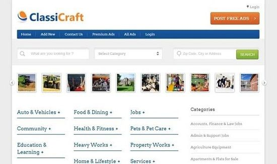ClassiCraft WordPress Theme – what is it? ClassiCraft is a new wordpress theme that has been designed in such a way that it has a great potential to give serious competition to other classified web giants like Craigslist, OLX, Ebay, etc.