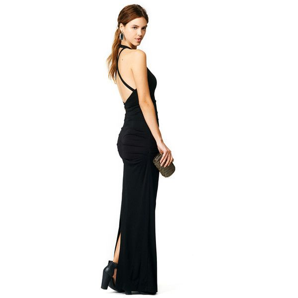 Rental Nicole Miller Black Blades Gown ($100) ❤ liked on Polyvore ...
