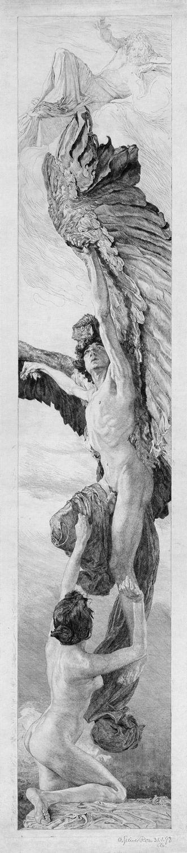 Otto GREINER. Ganymede [proof impression of state IV (of V)].