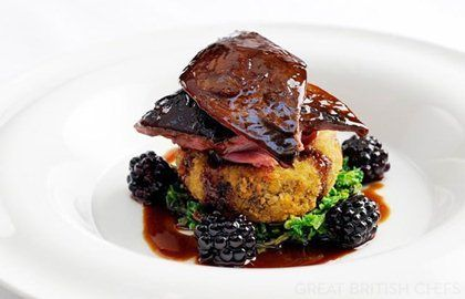 Roast Grouse With Blackberries & Port Wine Jus - Great British Chefs