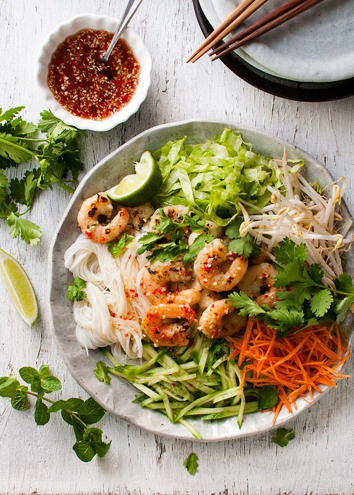 Vietnamese Garlic Shrimp Noodle Salad: A variety of textures and flavors make this Vietnamese garlic shrimp noodle salad exciting to eat.