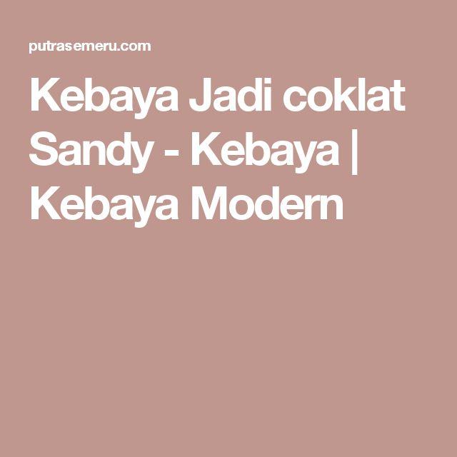Kebaya Jadi coklat Sandy-Kebaya | Kebaya Modern