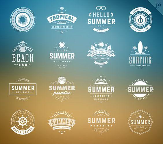 16 Summer holidays badges & labels by Vasya Kobelev on Creative Market:
