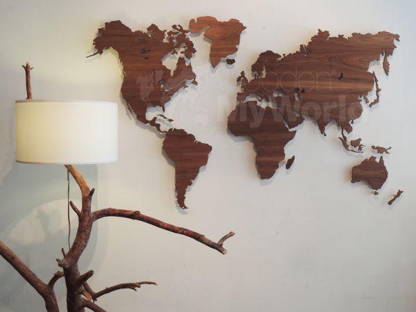 Supergaaf, wereldkaart uit hout!