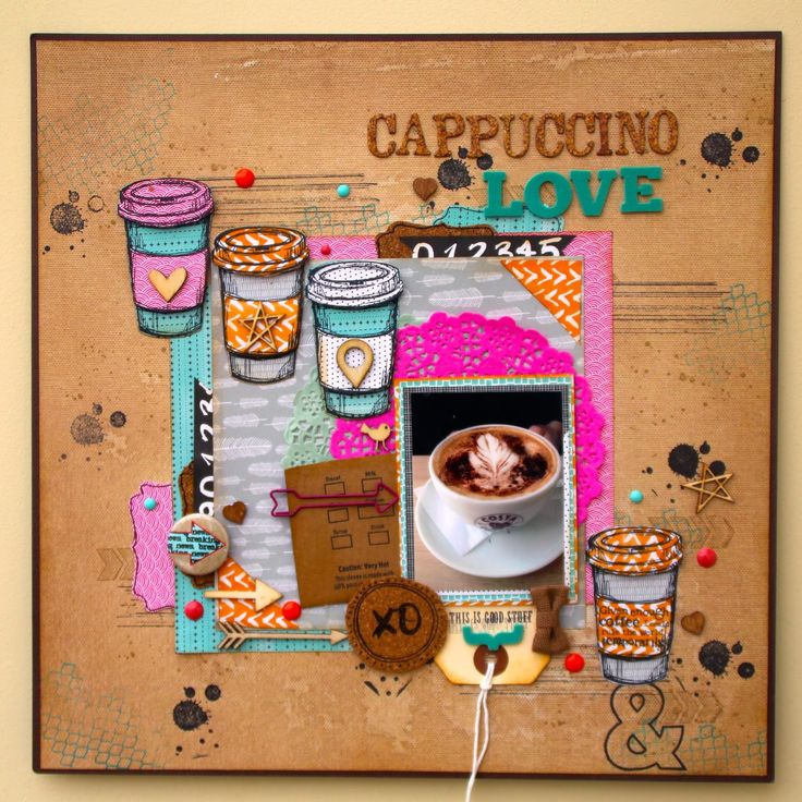Cappuccino Love - Amy Tanergine - Plus One Collection and Stampin'Up Coffee Cup Stamp set