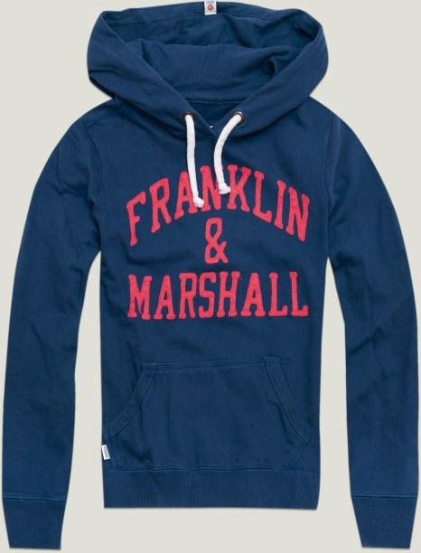 "Women's Hoodie Sweatshirt with ""Franklin & Marshall"" appliqué 