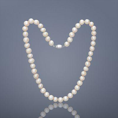 Perlový náhrdelník Mutiara střední – bílá