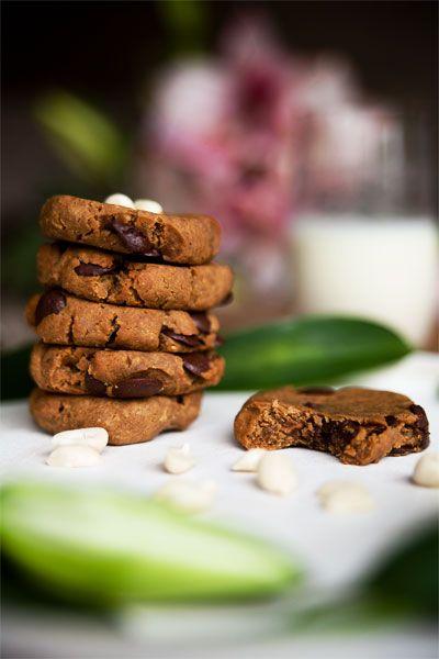 Vegane Protein Cookies mit Kichererbsen. Rezept auf veganmom.de