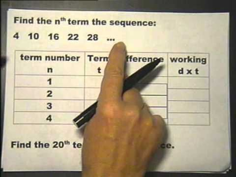 Finding the nth term of a sequence. Lesson 17 part 4. Foundation Maths. - YouTube