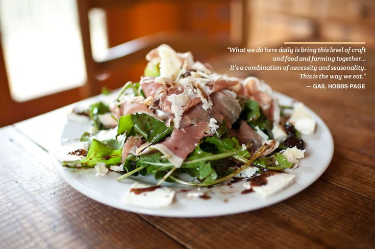 Beyond the Flavor - Home - Gail Hobbs-Page & Arugula with Prosciutto and Warm Fig-Sherry Vinaigrette