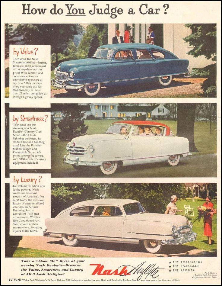 118 Best Nash Rambler Images On Pinterest American Motors Car