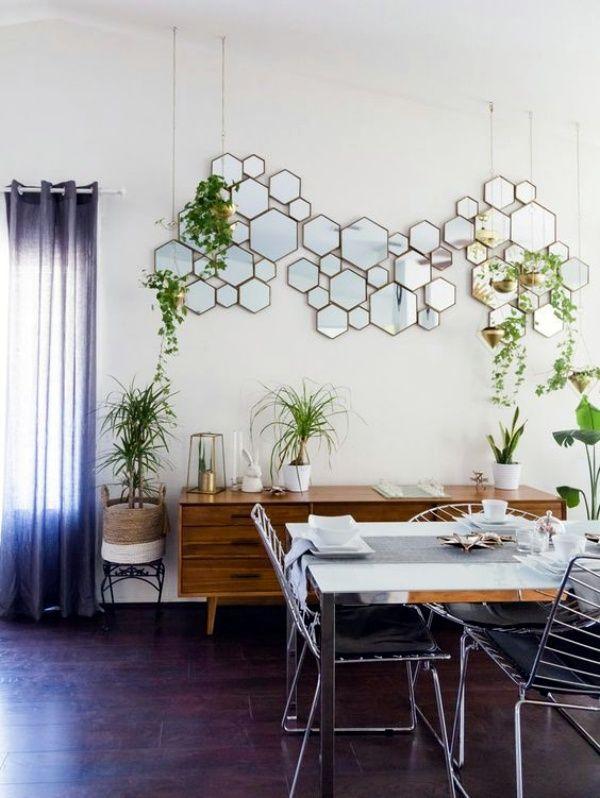 40 So Perfect Wall Hanging Plant Decor Ideas Mirror Dining Room Mid Century Living Room Decor Modern Dining Room Tables #wall #hanging #ideas #living #room