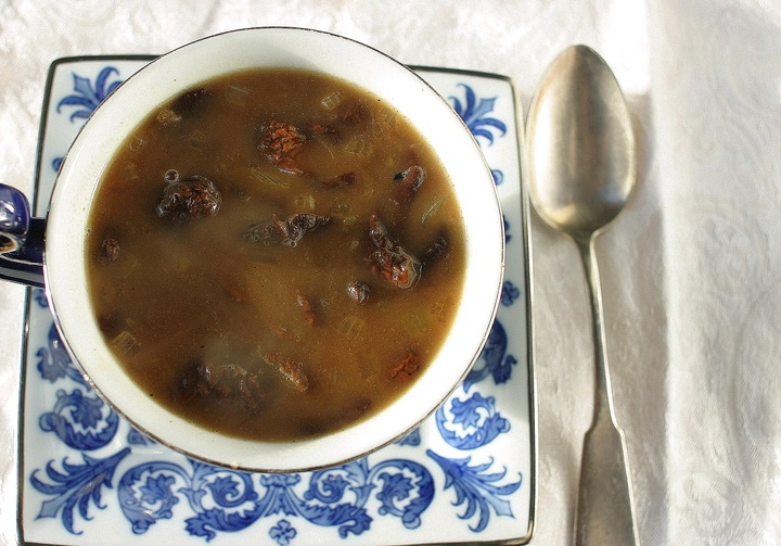 The Wigilia (Velija) Mushroom Soup - My mom's includes lima beans and prunes, a very different flavor combination. I LOVE my family's recipe and will have to write it down sometime as I always forget it. ;-)