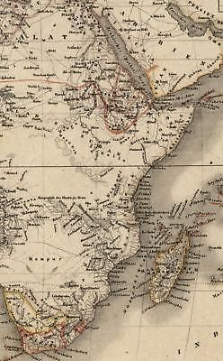 Map Of Africa 1850.Africa Mts Of Moon No Interior Lakes E Africa 1850 Detailed Map