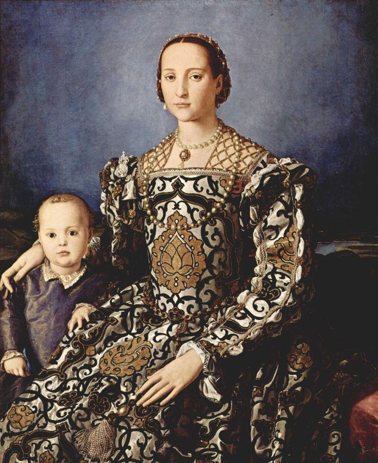 Аньоло Бронзино. Портрет Элеоноры Толедской с сыном. Ок. 1545 г. Уффици