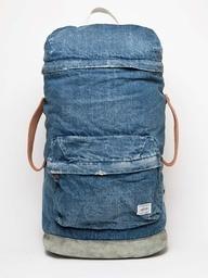 White Mountaineering x porter denim backpack