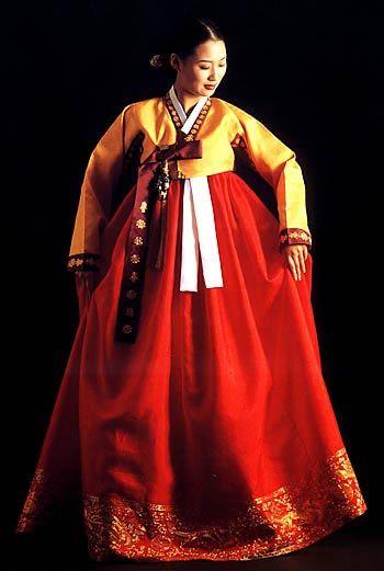 Hanbok - a traditional Korean dress -