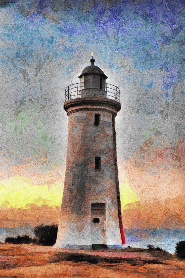 Mersey Bluff lighthouse, Tasmania by ArtbyOlafur on Etsy