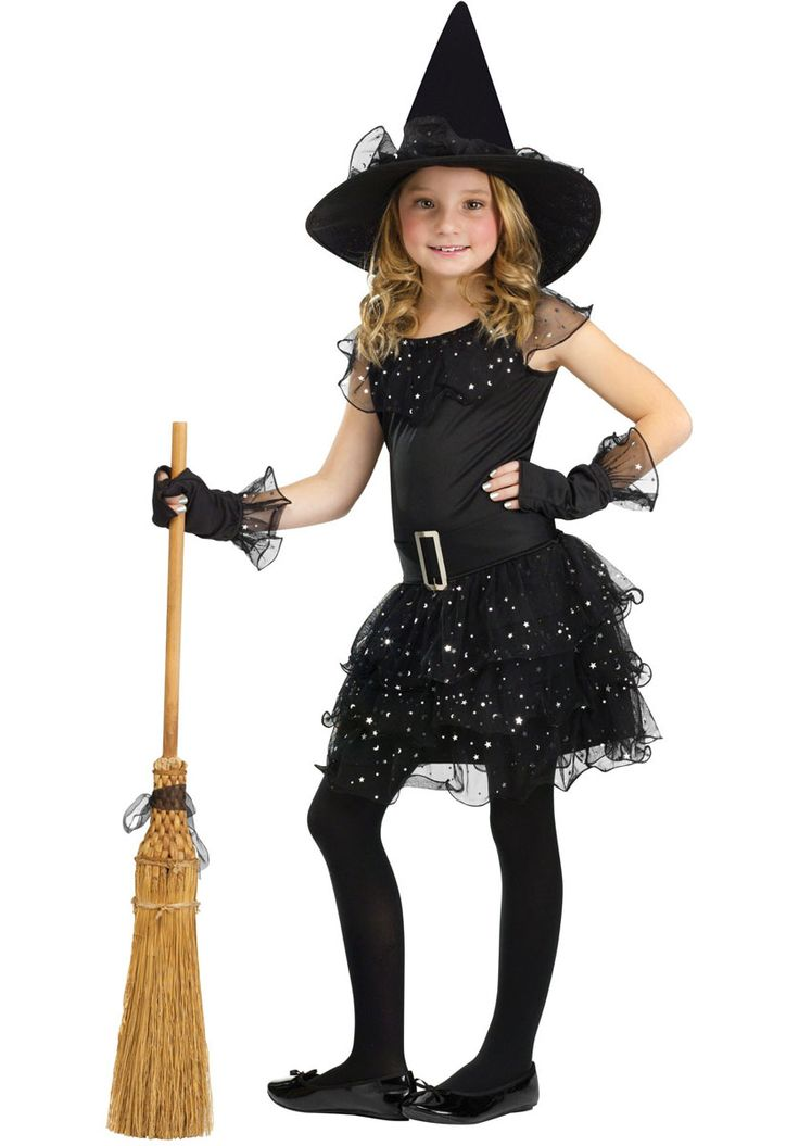 Kids Witch Glitter Costume - Child Halloween Costumes at Escapade