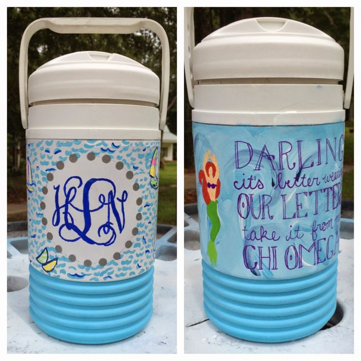 Diy Painted Cooler : Best images about custom painted cooler on pinterest