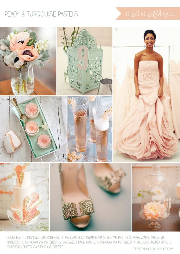 wedding colors turquoise. peach, and gold - Google Search