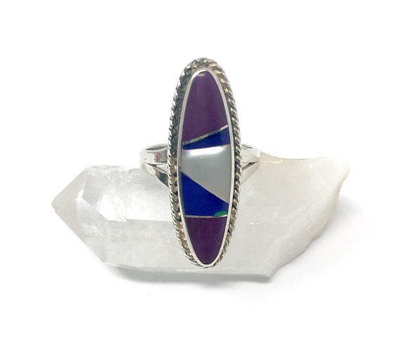 Vintage Lapis Lazuli Braided Ring Pretty Southwestern Sterling Silver Lapis Lazuli Braided Ring