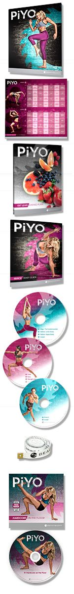 PiYo (Beachbody) - Using your body weight, you'll perform low-impact, high-intensity movements inspired by Pilates and yoga. The result? Long, lean muscles, a high, firm booty, and tight, flat, sexy abs. With PiYo, you'll work every single muscle to stabilize, stretch, and strengthen every inch of your body. And since Chalene Johnson cranked up the speed and the fun, you'll burn crazy calories while you're at it.