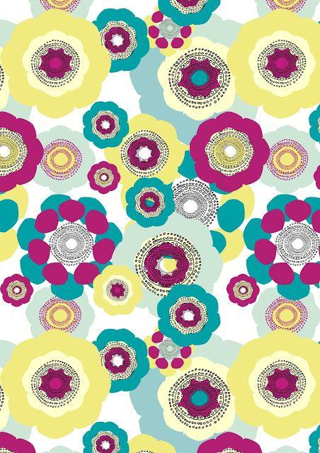 Luonne Design:  Another flower pattern by Venla-Ilona Malkki