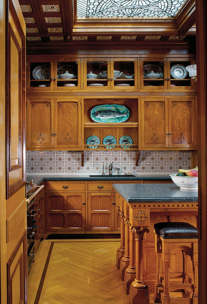 285 best images about eastlake homes on pinterest for Period kitchen cabinets