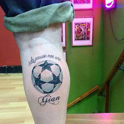 Resultado de imagen para balones dela champions tattoo