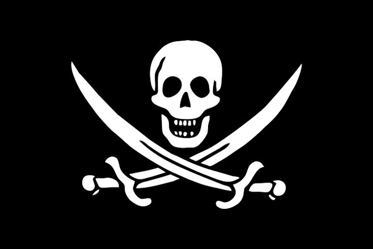 Jolly Roger flown by Calico Jack Rackham...and the one I own! And wore as a shipwrecked pirate for Halloween last year!!