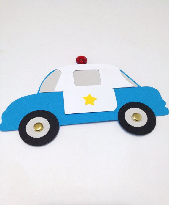police car craft kit for kids birthday party favor decoration arts and crafts stocking stuffer or scrapbooking