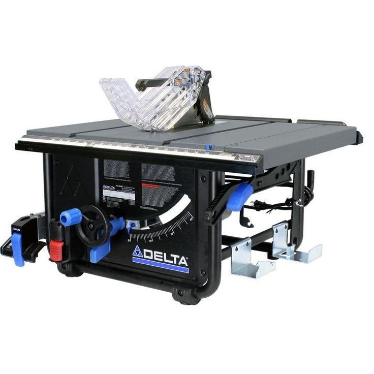 Delta 15 Amp 10 In Left Tilt 30 In Portable Jobsite Table Saw 36 6010 Stolova Pila