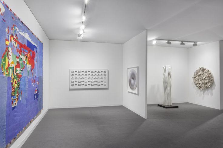 View of our Booth D1 at Art Basel Miami Beach 2016 Artworks by #AlighieroBoetti, #PaoloScheggi, #AlbertoBiasi, #PabloAtchugarry and #FrancescaPasquali.  #ArtBasel2016 #ArtBaselMiami #ItalianArt #ItalianMasters #TornabuoniArt