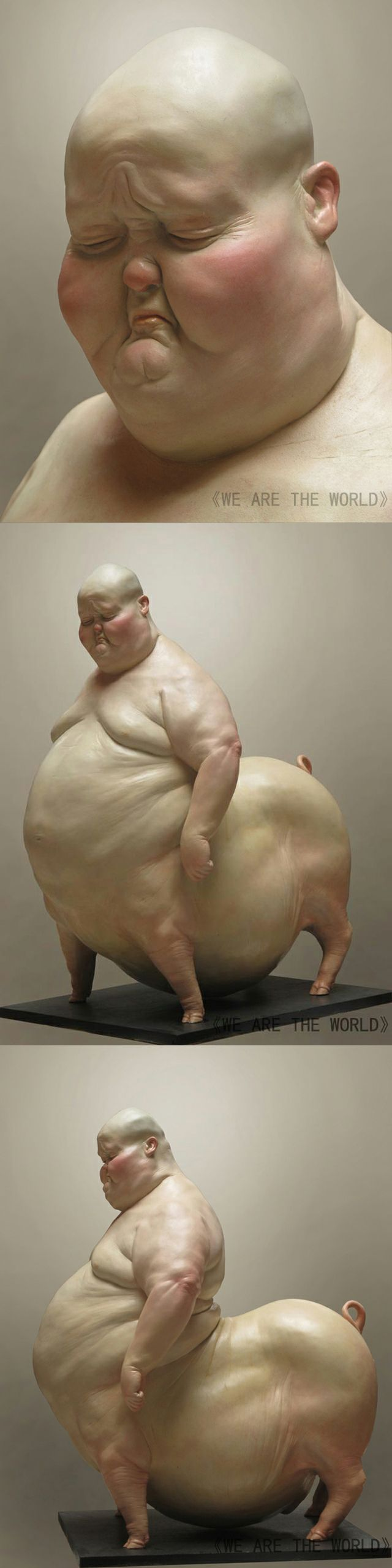 Liu Xue- sculpture. I have no idea how this sculpture is made but it is interesting
