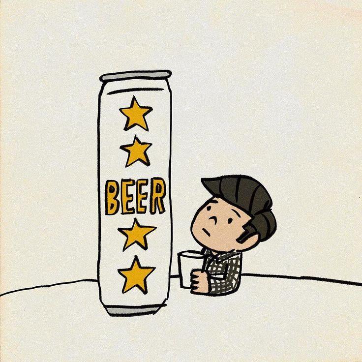 ローーーング缶 #ビール #イラスト