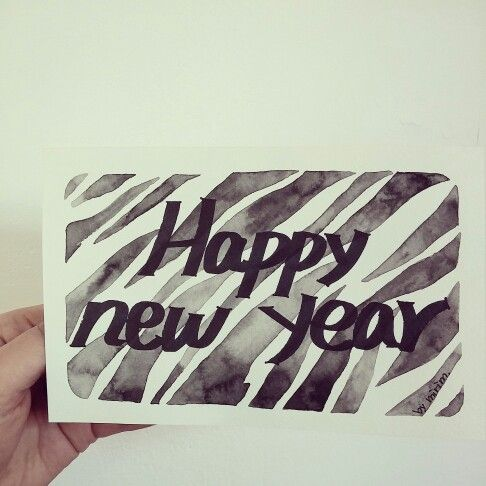 new year cards by mirim. watercolor