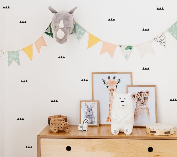 Forest Animals Wall Decal Woodland Wall Sticker Reusable Wall