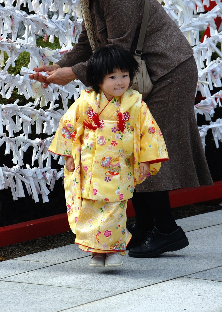 "Shichi-Go-San (七五三?, lit. ""Seven-Five-Three"") is a traditional rite of passage and festival day in Japan for three- and seven-year-old girls and three- and five-year-old boys, held annually on November 15. As Shichi-Go-San is not a national holiday, it is generally observed on the nearest weekend."