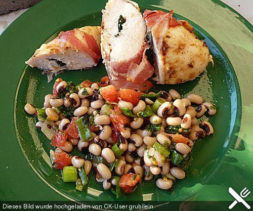 Griechischer Augenbohnensalat