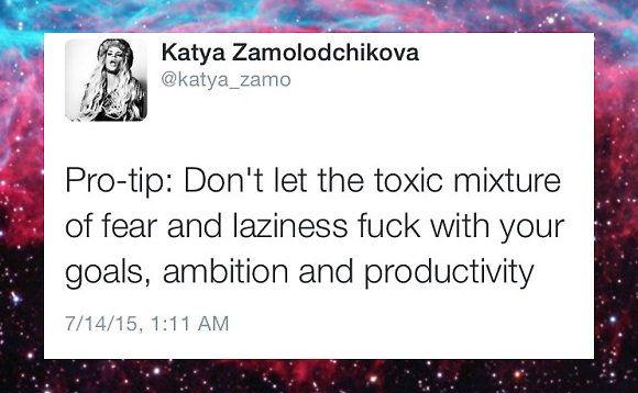Katya Zamolodchikova Inspirational Twitter Quote