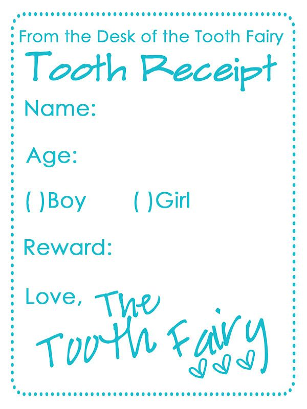 1000+ ideas about Tooth Fairy Receipt on Pinterest | Tooth fairy ...