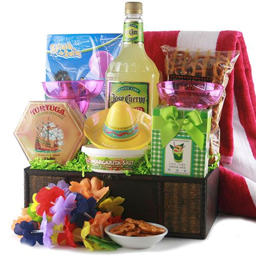 Fun margarita gift basket is perfect for Cinco de Mayo - or for Mother's Day!  Ok, it's really perfect anytime...