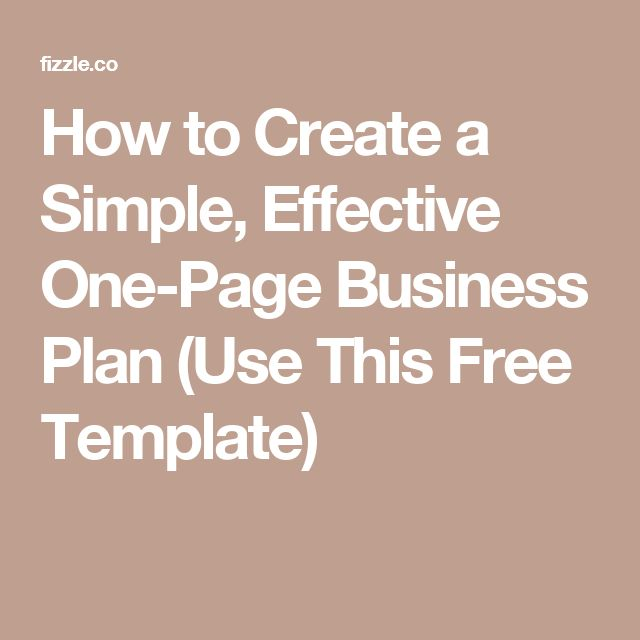 The 25+ best One page business plan ideas on Pinterest Business - simple business plan template