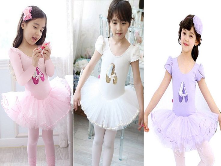 Девочка малыш танец обувь принт розовый купальник балет пачка танцевальная одежда скейт ну вечеринку показать платье SZ3-8Y не включают волос лента