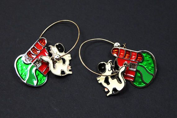 New Listings Daily - Follow Us for UpDates -  Description & Style:  3-D Cow & Barn Earrings - #Farmers Earrings Signed Berebi, Figural Farm Animals - Black, White, Red & Green Enamel #Vintage 1990s #Jewelry offered by The... #vintage #jewelry #teamlove #etsyretwt #farmers ➡️ http://etsy.me/2srGfUX